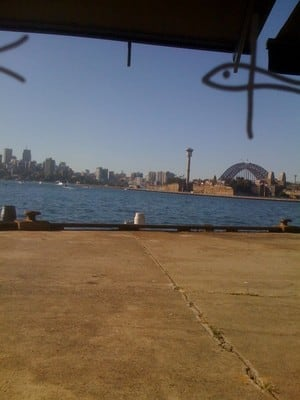 View from Flying Fish to Sydney Harbour Bridge