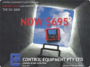 Control Equipment Confined Space Gas Monitor