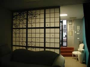 Japanese screen room divider