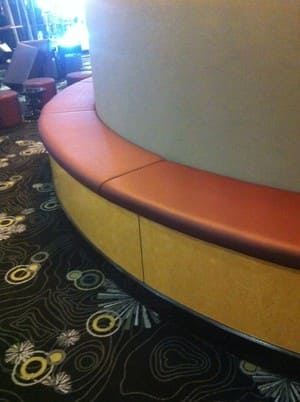 Round Banquette seating, Designed and manufactured.