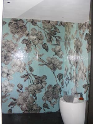 bisazza glass bathroom