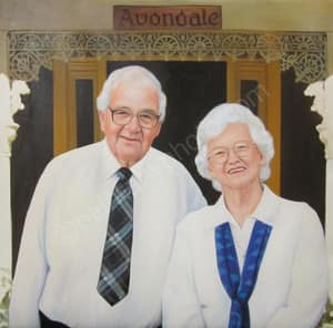 You can create an oil painting of your grandparents