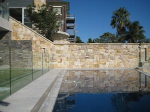 feature pool wall.
