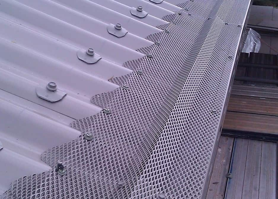Alloy Mesh On A Trimdeck Profile Metal Roof 1 Year Ago