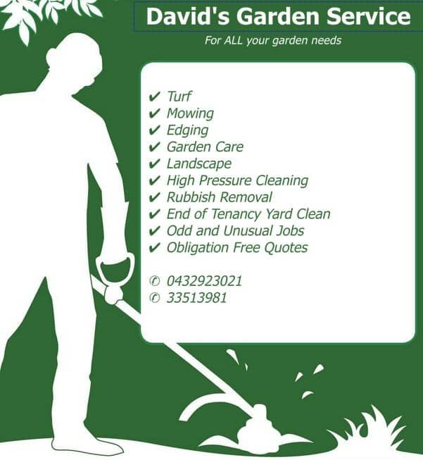 A1 david 39 s garden service in ferny hills brisbane qld for Gardening services