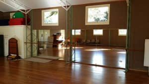 Dance studio mirror installation. 6 meter long wall in wollongong