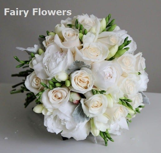 Local Wedding Flower Studio Image Penoy Rose Freesia Wedding Bridal