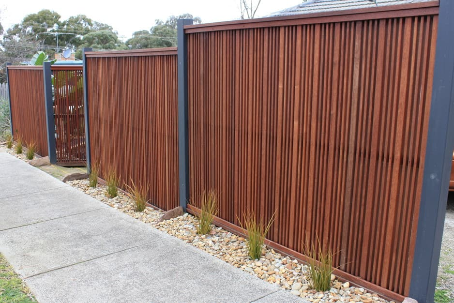 Steel Blade Fencing Melbourne Slat Fences Come In Both