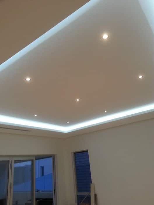 group image led downlights with led strip lighting under bulkhead