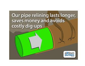 TrueLocal: Platinum Plumbers Image - Our pipe relining lasts longer, saves money and avoids costl