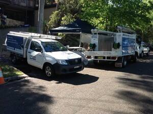 TrueLocal: Platinum Plumbers Image - The team setting up for pipe relining in Frenchs Forest.