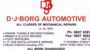 True Local: DJ Borg Automotive  Image
