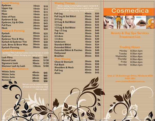 Cosmedica skin specialists in mindarie wa beauty salons for F salon jaipur price list