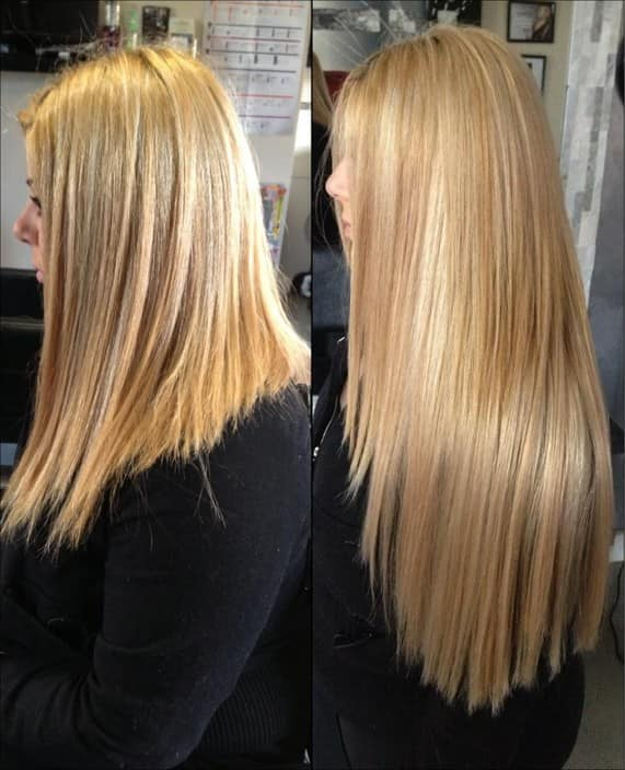 Hair Tape Extensions Before And After 46