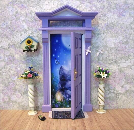True local opening fairy doors image purple opening for Fairy doors au