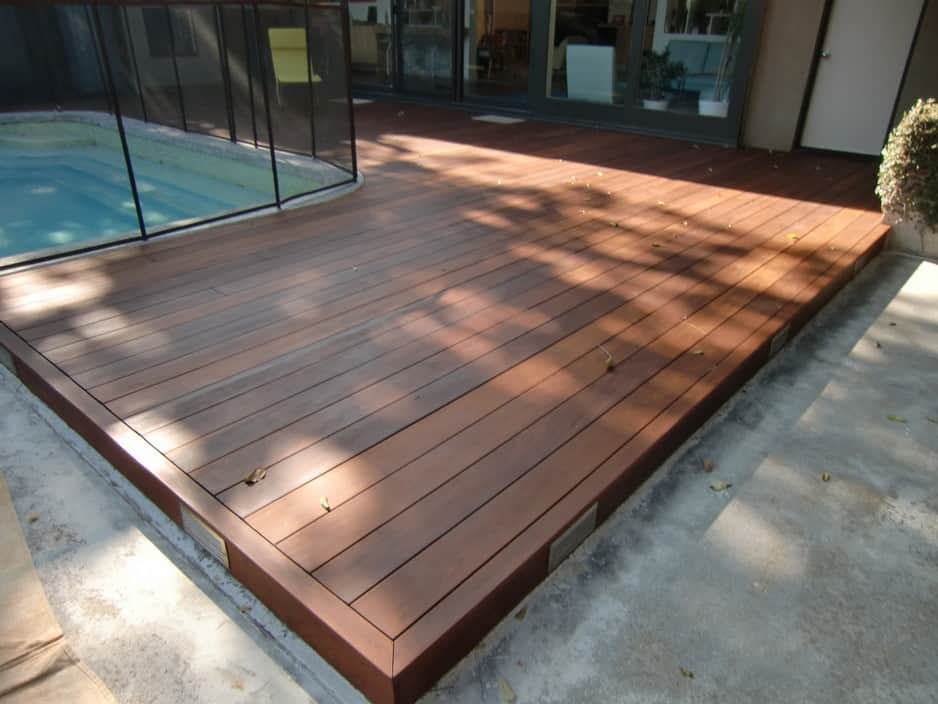 Merbu deck at croydon designed by leisure decking 2 years ago for Which timber for decking