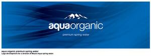 Aqua Organic bottled spring water logo and label design