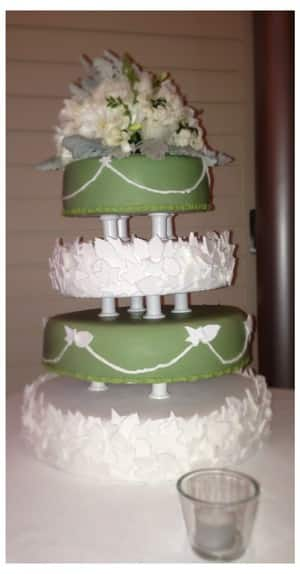 TrueLocal: The Cake Kitchen Image - The Cake Kitchen can also make wedding cakes to your desire. Here is our recent four tier garden cake.