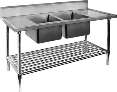 Flat Pack Stainless Steel Sinks : ... : Stainless Flat Pack Image - Stainless Steel Double Sink Benches