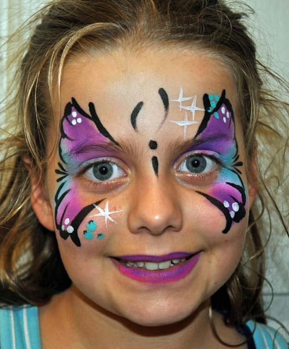 True local fizzbubble face painting image butterfly for Face painting business