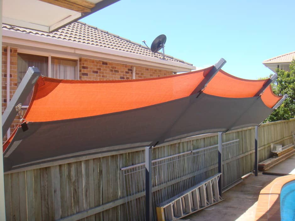 East coast shades pty ltd minyama shades blinds for Pool privacy screen