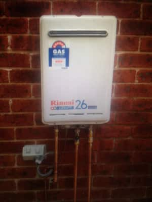 New Instantaneous hot water heater.Platinum Plumbers