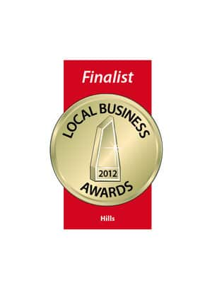 Finalist Hills Local Business Awards 2012