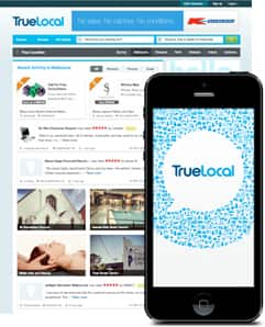 TrueLocal Web and Mobile Homepages