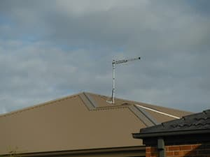 Australian TV Antennas Cranbourne Pic 4 - Iron Roof mount Can be installed where signal is at its best Tv Antenna Cranbourne