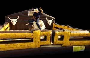 Buck a Bull Western Party Hire Pic 2 - The Deluxe Wild West Mechanical Bull TRIGGER