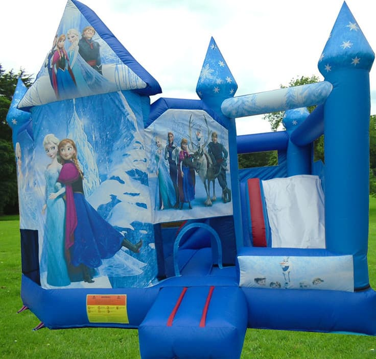 Little Munchkin's Party Hire Pic 1 - 2015 Frozen Jumping Castle with slide