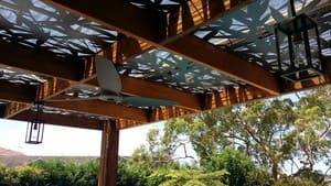 Oceans Electrical Services Pic 2 - Outside Pergola lights and fan
