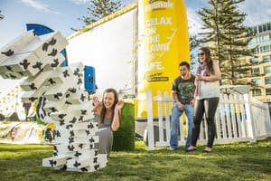 Ben & Jerry's Openair Cinemas Pic 3 - Enjoy games on the lawn at our Sundae Sessions every Sunday in season