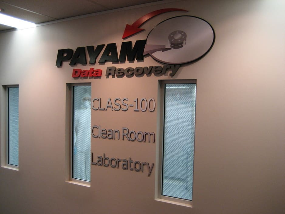 Payam Data Recovery Pic 1 - Australias only class100 clean room you can see