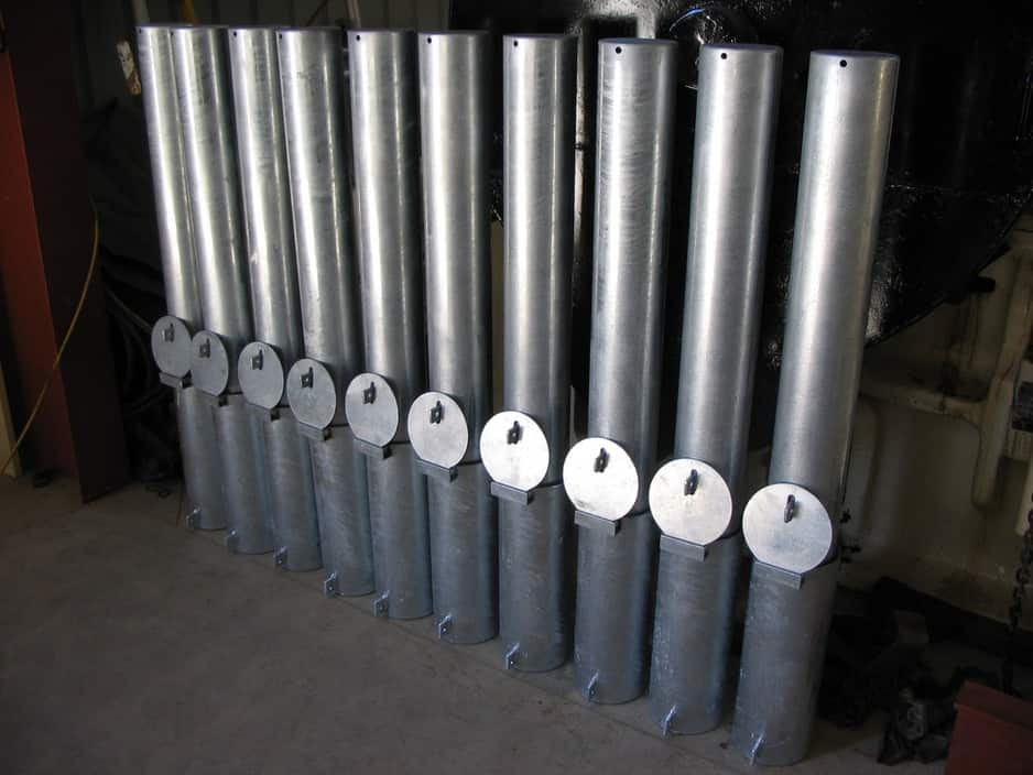 Bollards - Adelaide, SA - Fixed & Removable - Guardrail Installation - Pruszinski Fabrication Pic 1 - Heavy Duty Removable Bollards