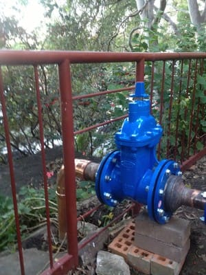 Platinum Pipe Relining Pic 3 - A new main isolation valve installed this week in North Sydney