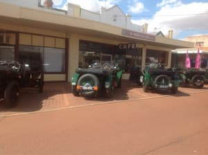 The Mallee Tree Cafe Pic 4 - Vintage Bentleys parked outside the Mallee Tree Cafe