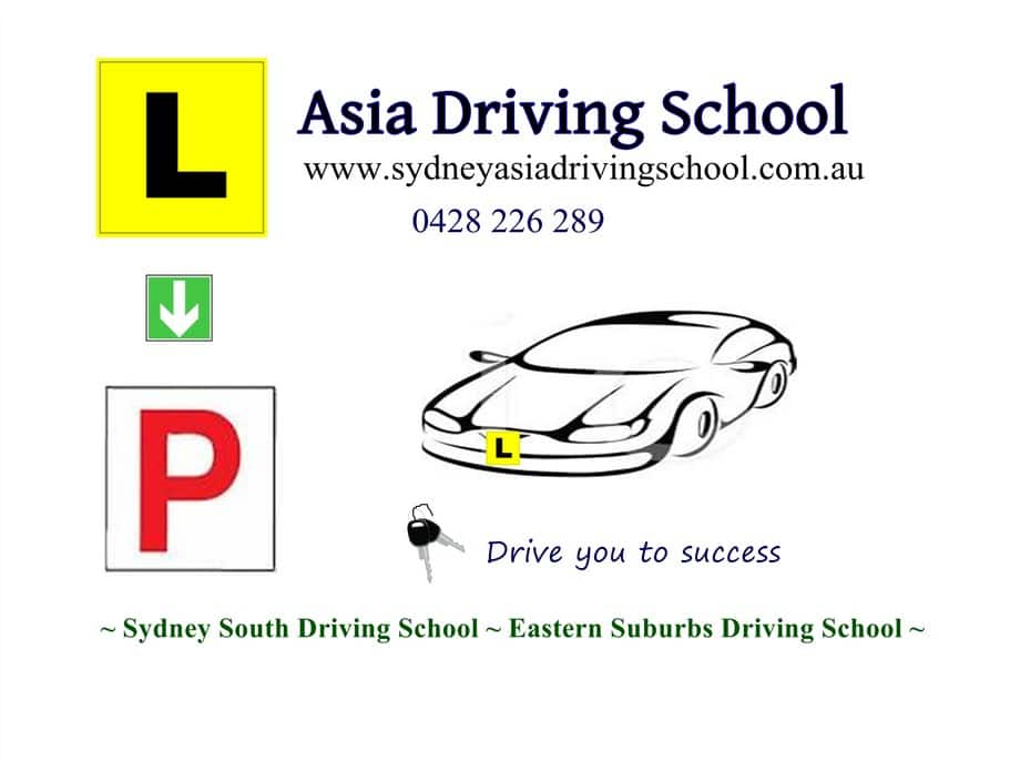 Asia Driving School Sydney Pic 1 - Sydney Eastern Suburbs Driving School St George Areas Driving School