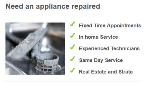 Sydney Domestic Appliance Centre Pic 1 - Just a few of the services that we offer