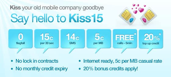 Kiss mobile Pic 1 - free calls between kiss