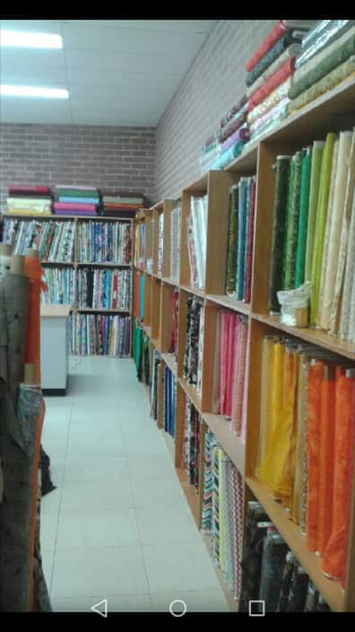 Morisset Fabrics & Crafts Pic 1 - Wall of Patchwork Material