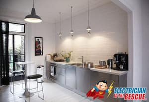 Electrician To The Rescue Electrical Services Pic 5 - We are experts in lighting of all kinds just take a look at this kitchen lighting in Sydney