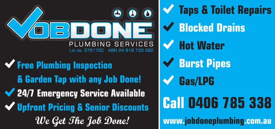 Job Done Plumbing Services Pic 1 - Keep an eye out for one of our flyers in your letter box Present for a free complete plumbing inspection of your home