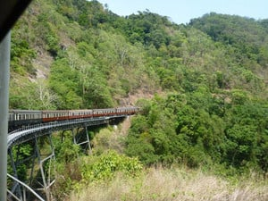 Cairns Kuranda Steam Train Pic 5 - Going up to Kuranda