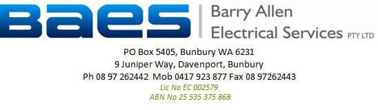 Barry Allen Electrical Services Pic 1
