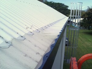 AllClear Gutter Guard NQ Pic 3 - Alloy mesh on Corrugated Roof