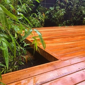Dare Landscaping & Construction Pic 3 - Spotted gum deck bamboo