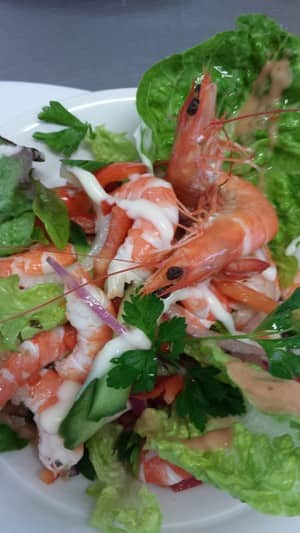 Pelican Rocks Seafood Restaurant & Cafe Pic 2 - Caf Prawn Salad