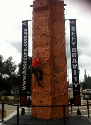 Mobile Rock Climbing Sydney - Base Zero Pic 4 - Always have to test the setup