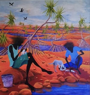 Beverley Skurulis Gallery Pic 2 - Cherabin Fishing on the Fitzroy River